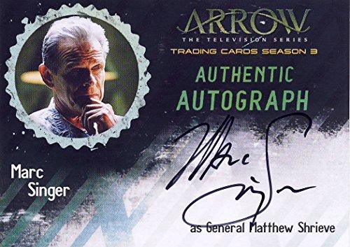 2017 Arrow the TV Show Season 3 Autograph Card MS Marc Singer as General Matthew Shrieve