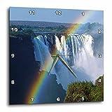3D Rose dpp_76081_3 3dRose Waterfalls, Victoria Falls, Zimbabwe, Africa-AF52 CSL0009-Charles Sleicher-Wall Clock 15-inch