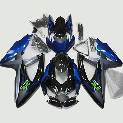Ems Fuel Injection (ABS Injection Molding - Special Design Blue Fairing Kit for 2008 2009 2010 Suzuki GSXR 600 / 750 K8)