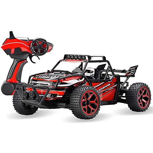 SZJJX RC Cars Off-Road Rock Vehicle Crawler Truck 2.4Ghz 4WD High Speed 1:18 Remote Radio Control Racing Cars Electric Fast Race Buggy Hobby Car Red ()