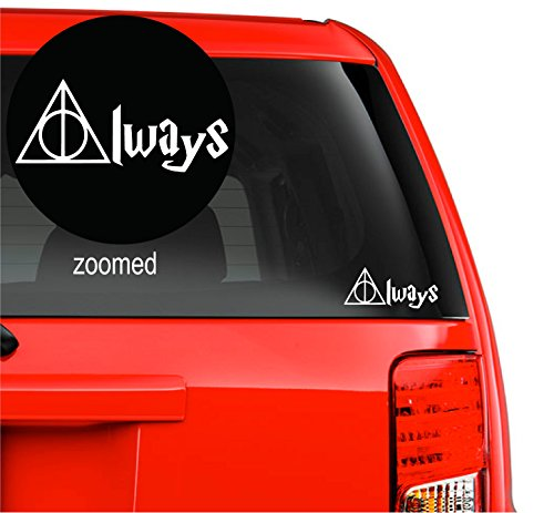 Harry Potter Always Deathly Hallows Vinyl Decal Sticker for car laptop room wall (5.5