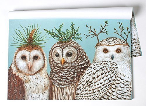Winter Owls Paper Placemat Set/30 American Made