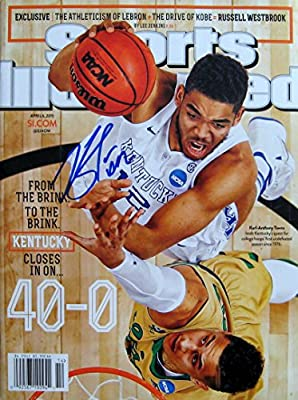 Karl Anthony Towns KENTUCKY autographed Sports Illustrated magazine 4/6/15