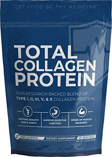 UMZU: Total Collagen Protein - Hydrolyzed Collagen Supplement - 20 Servings - Unflavored - Support Healthy Skin & Joints - Improve Digestive Function - Speed Up Muscle Recovery