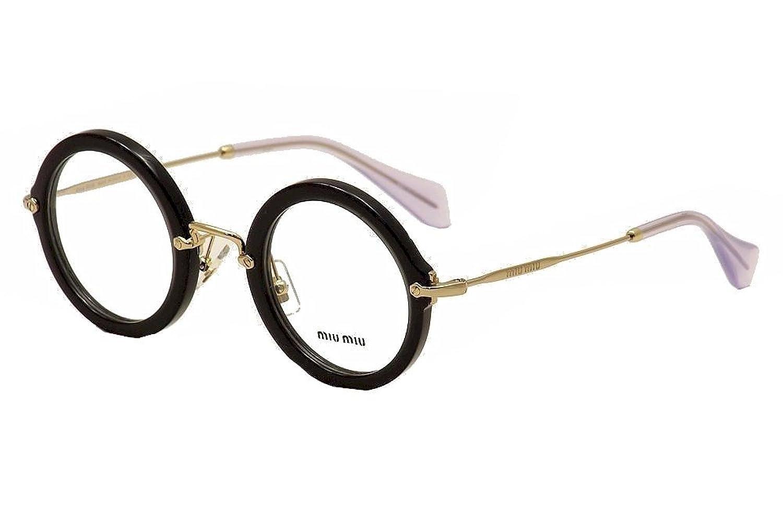 eyeglasses miu miu mu 6nv tkx1o1 opal black at amazon womens clothing store - Miu Miu Glasses Frames