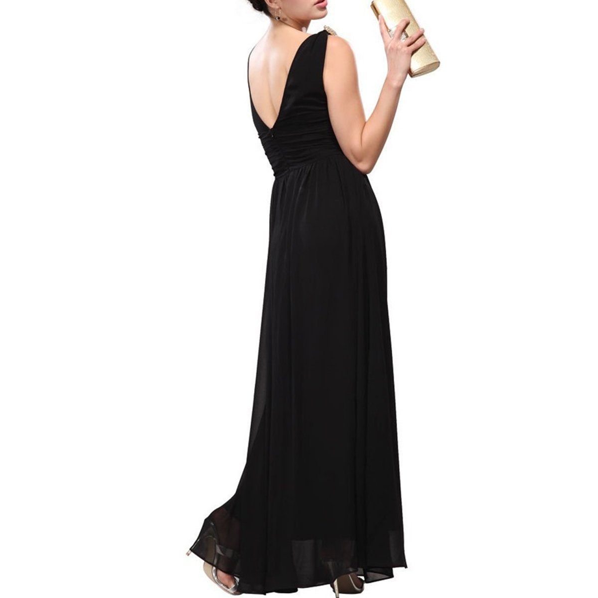 KAXIDY Ladies Evening Dresses Wedding Holiday Beach Maxi Gowns: Amazon.co.uk: Clothing