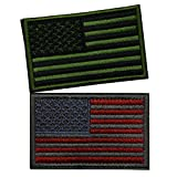 Bundle 2 pieces Tactical US Flag Patch - Green & Red - American Flag Velcro ...