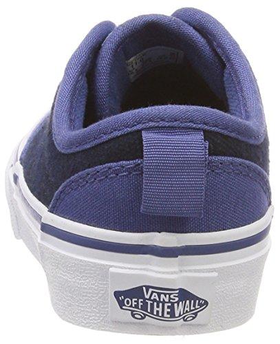 Sin Vans Unisex Slip Azul Para Niños Zapatillas on Atwood Cordones Textile checkered ffaqICw