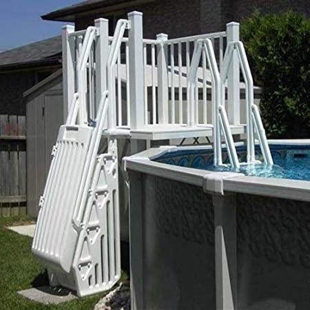 Vinyl Works Above Ground Swimming Pool Resin Deck Kit - Taupe 5 x 5 Feet