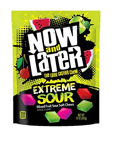 - Now & Later Extreme Sour Fruit Chews Assorted, 10 Ounce Bag, 6 Count