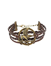 Accessorisingg The Hunger Games Mokingjay Woven Leather Bracelet [BR069]