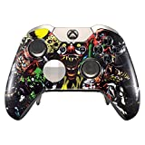 eXtremeRate Scare Party Front Housing Shell Case Faceplate Replacement Parts for Xbox One Elite Controller