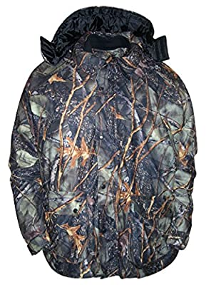 WFS Mens Big Sizes Burly Camo 4in1 Hunting Jacket Parka