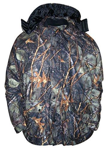 WFS Mens Big Sizes Burly Camo 4in1 Hunting Jacket Parka (Burly Camo ()