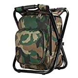 Upgrade Ultralight Backpack Cooler Chair, Portable & Folding Camping Chair Stool Backpack