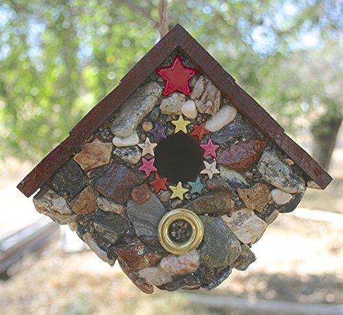 - Unique Functional Stone Birdhouse Handmade