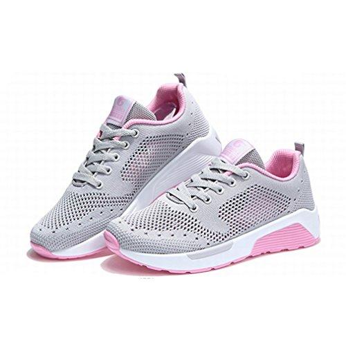 botas bajo claro gris de Mujer LFEU caño dxOd0