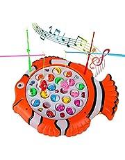 Giochi da Pesca Musicale Tavola di Pesce Giocattoli Pesci Giocattolo con 21 Pezzi Pesce e 4 Canna da Pesca Giochi Educativi Regalo per Bambini 3 4 5 Anni Ragazzi e Ragazze