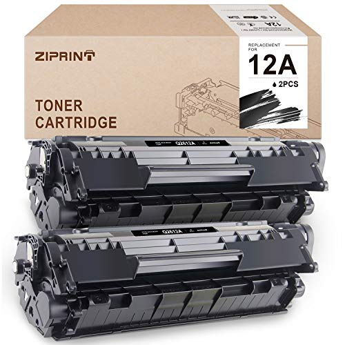ZIPRINT Compatible Toner Cartridges Replacement for HP 12A Q2612A for HP Laserjet 1010 1020 1012 1022 1022n 3015 3055 1018 3030 Printer (Black, 2-Pack)