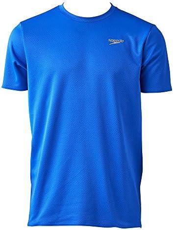 [해외]Speedo (스피드) HONEYCOMB DRY T SH スイエイハンソデ T-셔츠 (sd17t64-bl) / speedo (speed) HONEYCOMB DRY T SH Suiei Hansode T-shirt (sd17t64-bl)