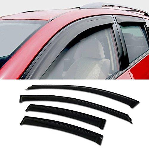 VXMOTOR - Sun/Rain/Wind Guard Smoke Tint Shade Deflector Window Visor 4P 11-14 Chevy Cruze (Chevy Cruze Light Tint compare prices)