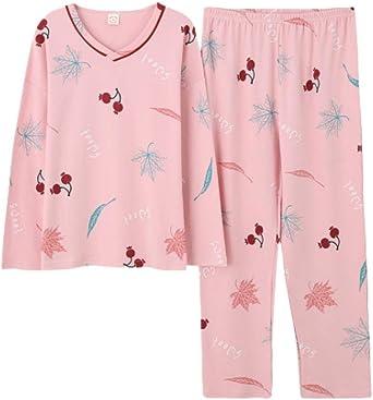 Pijamas para Mujer,Conjunto De Pijama para Mujer 100% Algodón ...