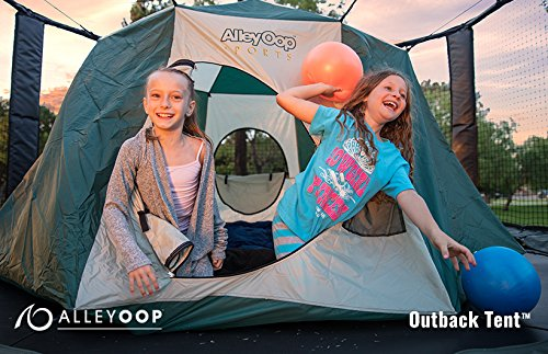 AlleyOOP Outback Trampoline Tent | Cushy & Elastic No-Pole Safety Design | Giant Size 11' Across, 5.5' Tall | Bounce House or Have a Backyard Campout | Trampoline & Enclosure Sold Separately