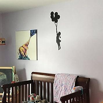 L// 15.5X54CM semi transparent pochoir R/éutilisable D/écor Maison /& Art Artisanat Peinture Pochoir Banksy Volant Ballon Fille Pochoir