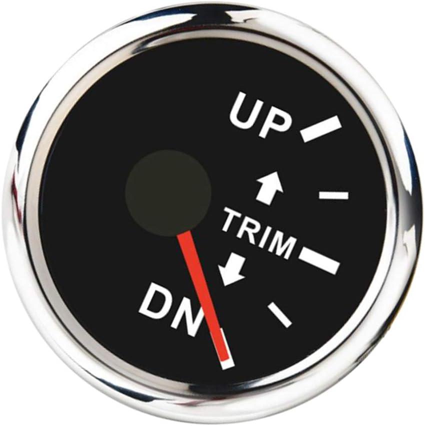 Hohe Temperaturbest/ändig Wasserfest KESOTO Boot Trimmanzeige Trim Tilt Gauge Rechte Anzeige 90/° Anzeigewinkel Staubdicht
