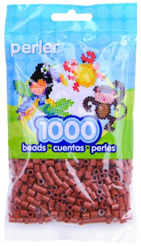 Price comparison product image Perler Beads Fuse Beads for Crafts,  1000pcs,  Rust Red