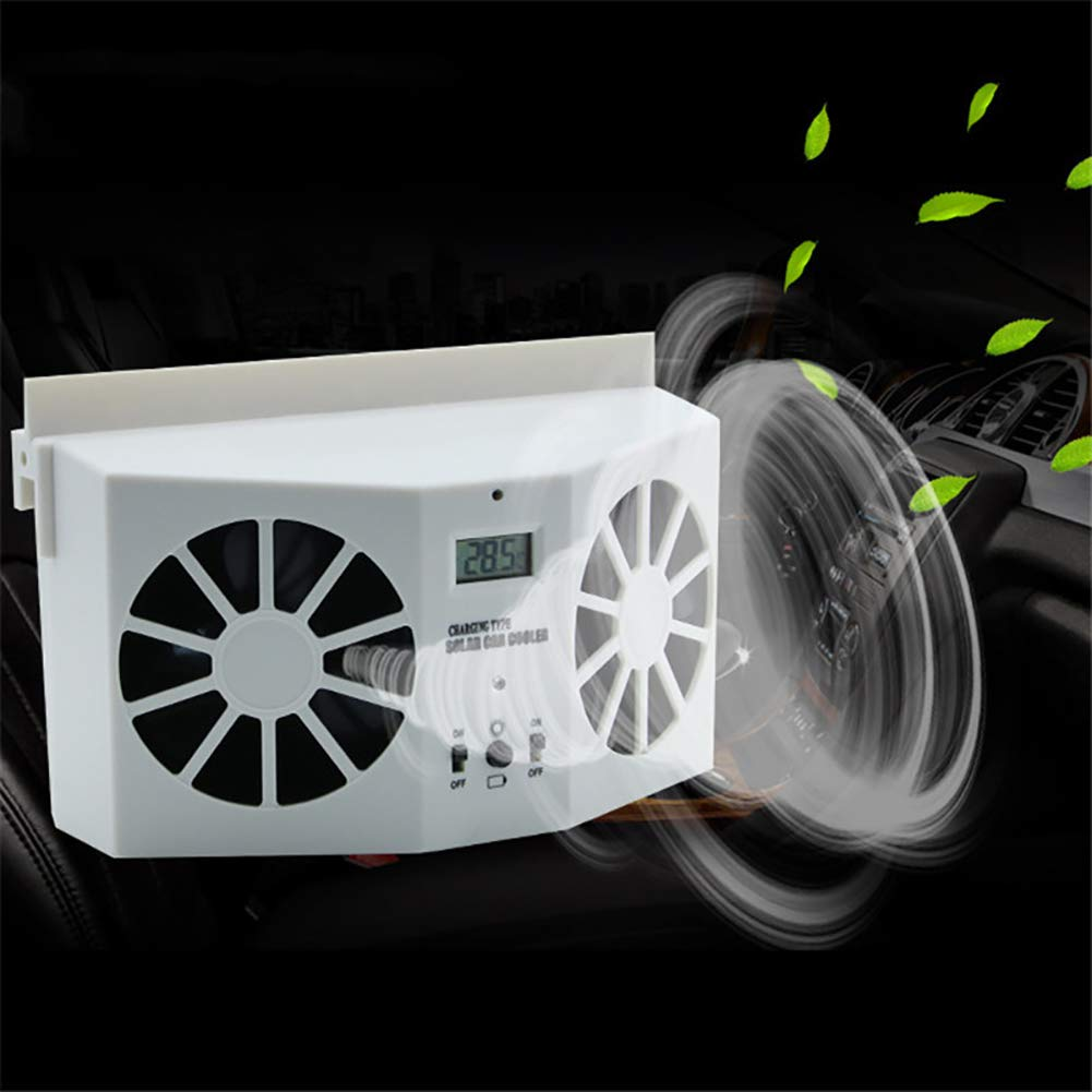 Solar Powered Car Fan Exhaust Fan Window Auto Air Vent Cool Fan Cooler Ventilation System Radiator Can use battery Car Air Purifiers By S-power