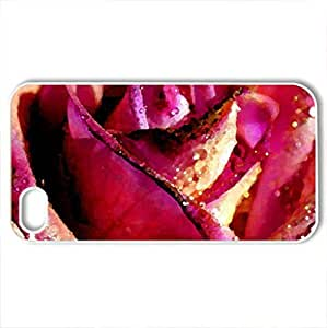 Beautiful roCase For Iphone 6 4.7Inch Cover (Flowers Series, Watercolor style, White)