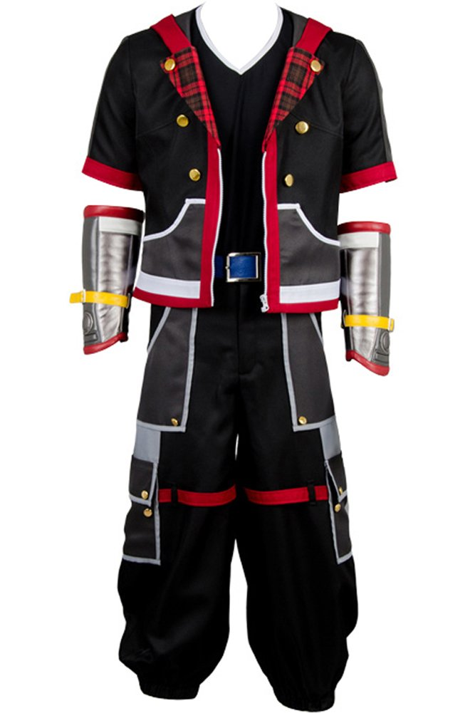 Wecos Halloween Costume Kingdom Hearts III Protagonist Sora Outfit Uniform Large