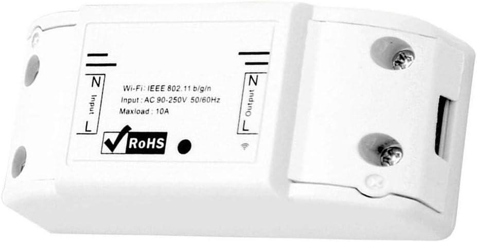 TOPofly WiFi Inteligente Principal Abrir Interruptor De Control Remoto Inal/ámbrico Interruptor Remoto M/ódulo De Rel/é Modificaci/ón De Automatizaci/ón para Android Blanca