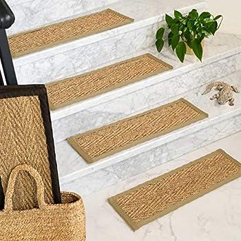 Felice Indoor Sisal Fiber Stair Treads