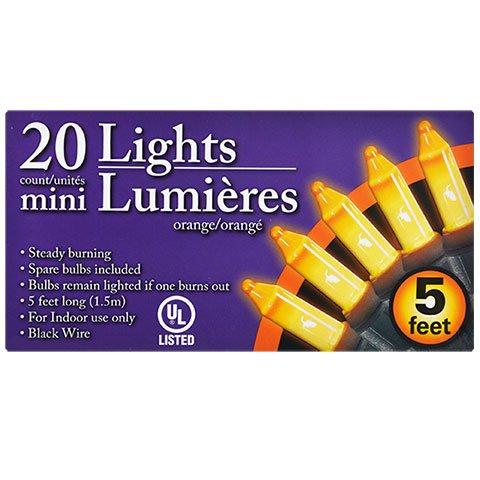 Orange Indoor Mini Lights (20 Count, 5 (Halloween Stuff In Walmart)