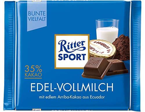 Ritter Sport Fine Milk Chocolate Bar Candy Original German Chocolate 100g/3.52oz