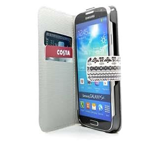 Polipiel Justin carcasa, para i9500 Samsung Galaxy S4 con la tarjeta y el protector de pantalla