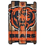 WinCraft NFL Chicago Bears Wood Fence Sign, Black