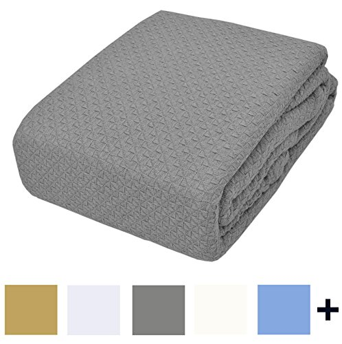 TreeWool, Premium 100% Cotton Thermal Blanket Easy Care Soft Comfortable and Warm (King Size - 90