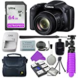 Canon PowerShot SX530 HS Digital Camera with 64GB SD Memory Card + Accessory Bundle
