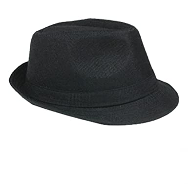 Trendy Designer Fedora Trilby Mafia Mafia Al Capone Hat Gangs HAT013 -  Black - One Size 5d20ad27db9
