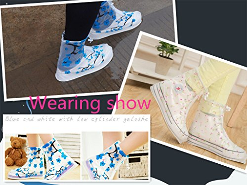 Cycling Portable M Plum Waterproof Covers L White Ladies Children Printed Hiking S Shoe MHO Outdoor ZqERX