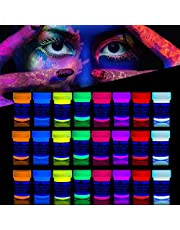 neon nights 'XXL Set' 24 Cans of Neon Body Paints 16.5 fl oz of Luminescent Body Paints – Long-Lasting Neon Body Paints for Blacklights, UV Lights – Fluorescent Body Paints for Adults