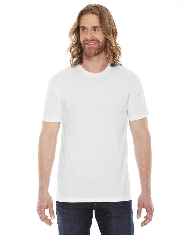 American Apparel Unisex Poly/cotton Short Sleeve Crew Neck T bb401 - White - L