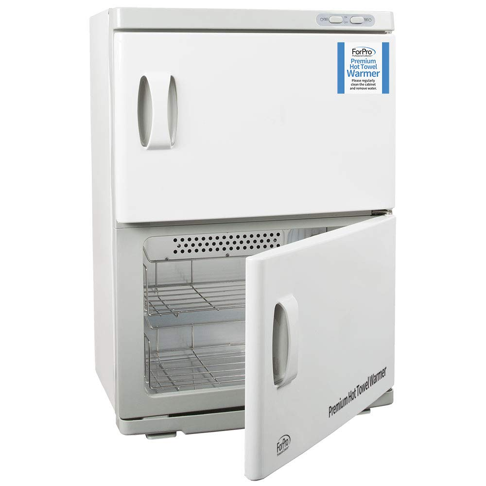 ForPro Premium Double Hot Towel Warmer, UV Sterilization, 48 Towel Capacity, Rust Resistant Towel Heater, 25.5'' H x 17.75'' W x 11'' D by ForPro
