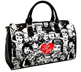 I love Lucy Collage Large Duffel Bag, Travel Bag (Black NY)