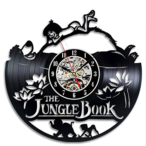 The Jungle Book Vinyl Record Clock Wall Art Home Decor Gift
