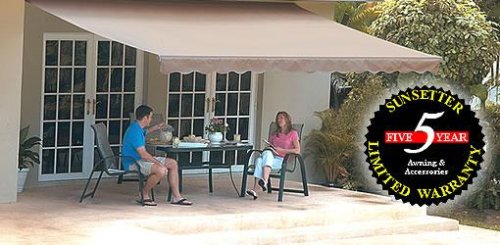 Amazon.com : 15FT SunSetter Black Stripe Motorized Awning : Patio Awnings :  Patio, Lawn U0026 Garden