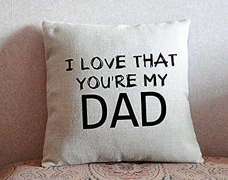 GOODcake Funda de almohada para el día del padre, funda de ...